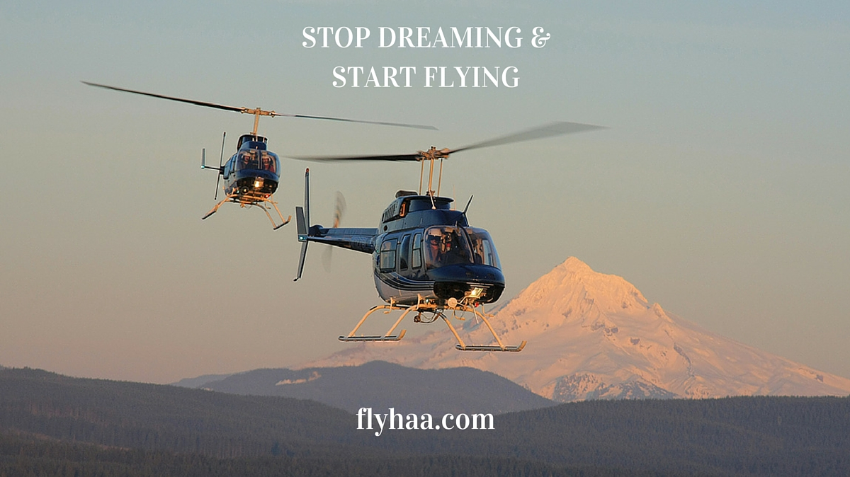 stop dreaming and start flying