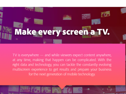 Adobe Multiscreen TV Infographic